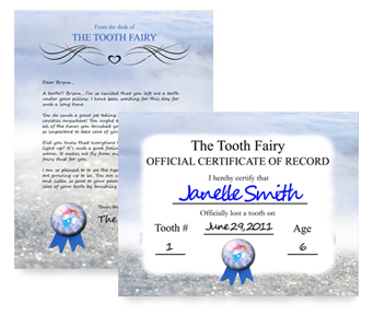 image relating to Tooth Fairy Stationary named iBelieveGreetings - ToothFairy Letter and Certification Dwelling